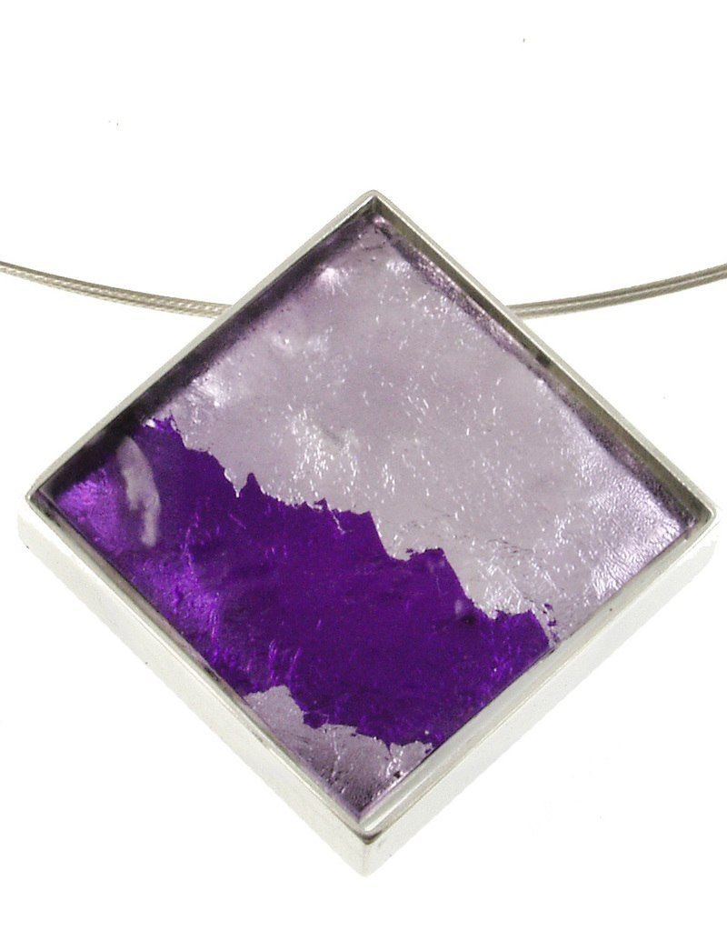 ORIGIN Dichroic Resin Pendant Necklace