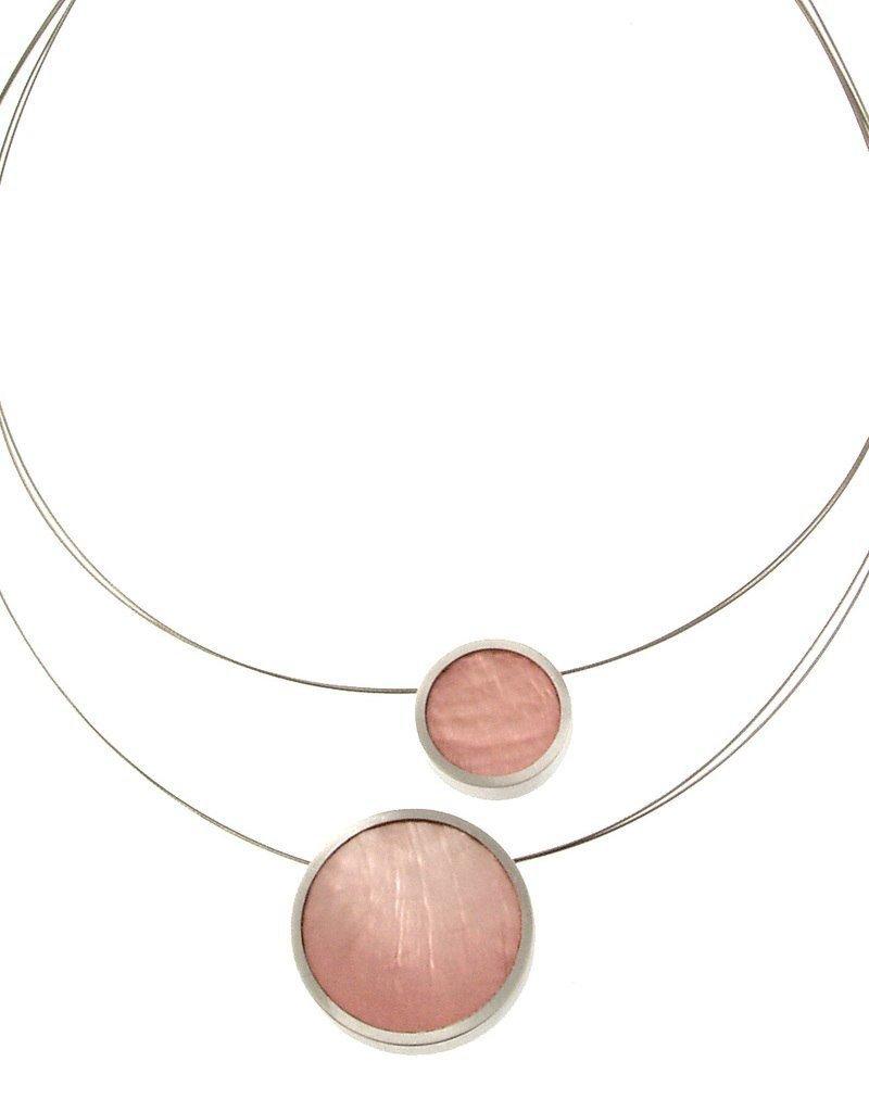 ORIGIN 2 Strand Alum Pendant Necklace