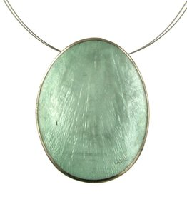 ORIGIN Oval Capiz Shell Pendant Necklace