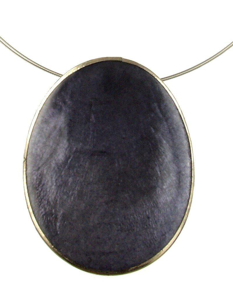 ORIGIN Oval Capiz Shell Pendant Necklace