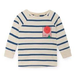 T-shirt manches 3/4, à rayures bretonnes
