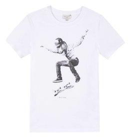 Paul Smith Junior T-shirt singe en skateboard