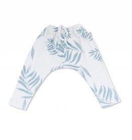 Sarouel en côte Opa, imprimé feuilles de palmier