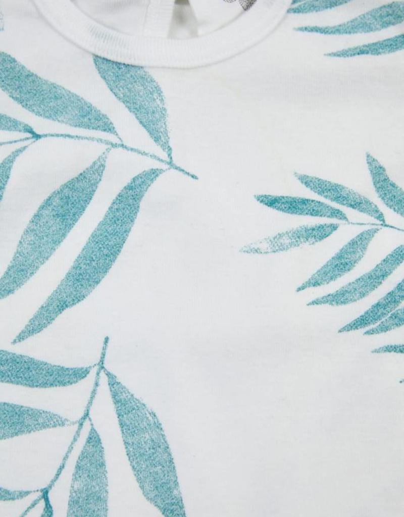 Barboteuse pour bébés Baba, imprimé feuilles de palmier