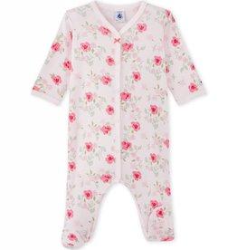 Petit Bateau Pyjama Mia Bébé Fille à Imprimés Fleurs