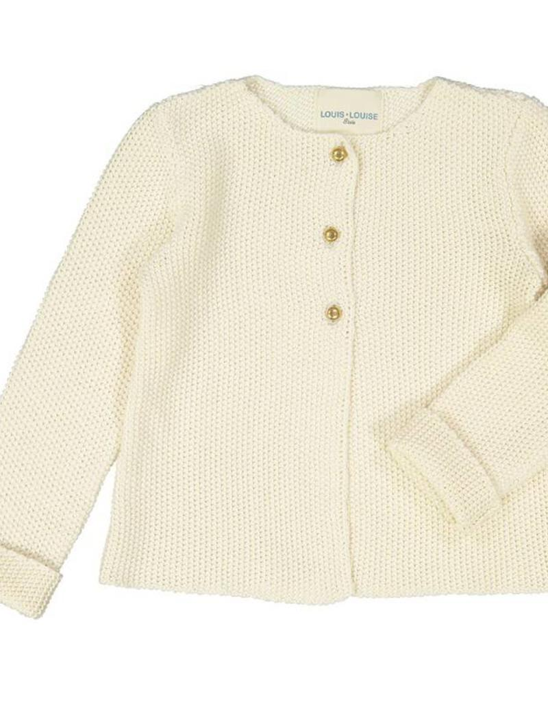 Cardigan little gold lurex