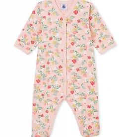 Petit Bateau Pyjama pour bébé, imprimé fleurs