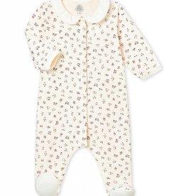Petit Bateau Pyjama pour bébé, imprimé fleurs délicates