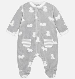 Mayoral Pyjama en velours pour bébés, imprimé ours