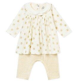 Petit Bateau Ensemble robe et legging pour bébé