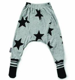 NuNuNu Pantalon à pieds pour bébé, imprimé étoiles