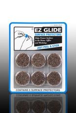 "EZ Glide EZ Glide Felt Floor Protectors, 1-1/2"" Round, 6 per Package"
