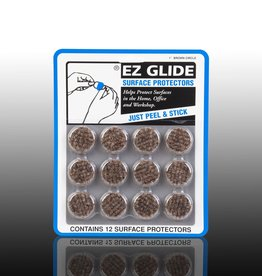 "EZ Glide EZ Glide Felt Floor Protectors, Small 1"" Round, Brown, 12 per Package"
