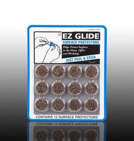 "EZ Glide EZ Glide Felt Floor Protectors, Small 1"" Round, Brown, 12 per Package"