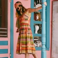 J Tiktiner 1970's Dress