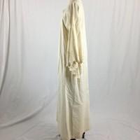 Cream Angel Sleeve Gown