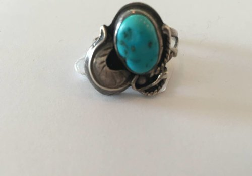 Turquoise Ring Feather