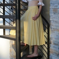 Yellow Swing Skirt