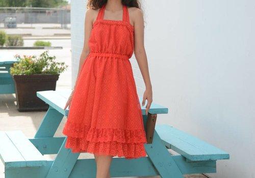 Dakota Jeane Red Lace Fit & Flare Dress