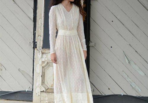 Antique Polka Dot Maxi Dress