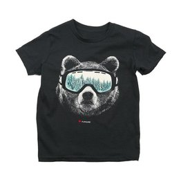 WestCoasTees Fursure Ski Bear T Shirt
