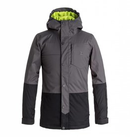 DC Shoes DC Boys' Defy Snow Jacket, Dark Shadow -