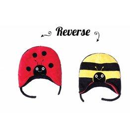 Flapjack Kids Ladybug/Bumblebee Reversible Hat -