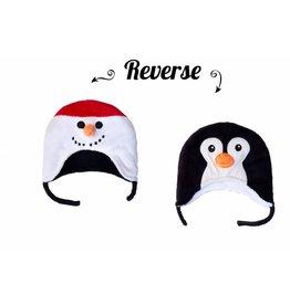 Flapjack Kids Snowman/Penguin Reversible Hat