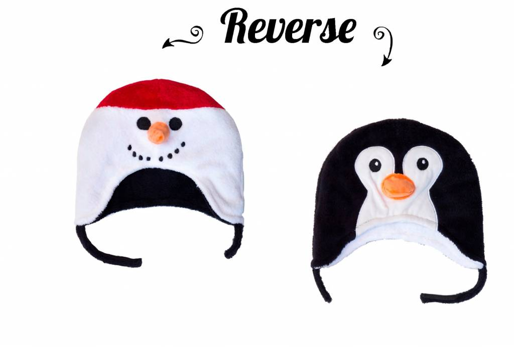 Flapjack Kids Snowman/Penguin Reversible Hat