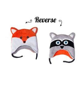 Flapjack Kids Flapjack Kids Racoon/Fox Reversible Hat