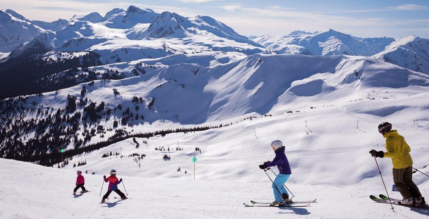 Family ski day in Whistler