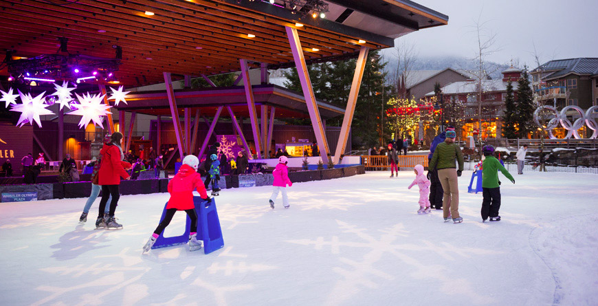 Ice Skating in Whistler Olympic Plaza
