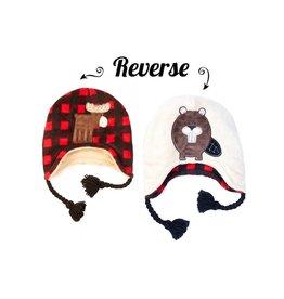 Flapjack Kids Flapjack Kids Moose/Beaver Reversible Hat