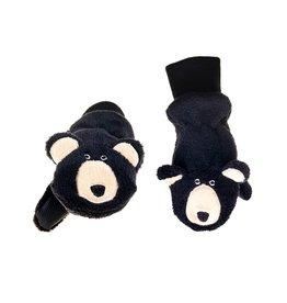 Flapjack Kids' Black Bear Mittens