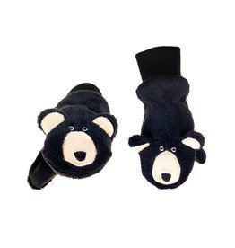 Flapjack Kids Flapjack Kids' Black Bear Mittens