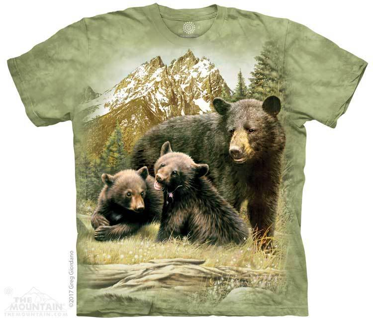 The Mountain The Mountain Youth Black Bear Famiy T-Shirt
