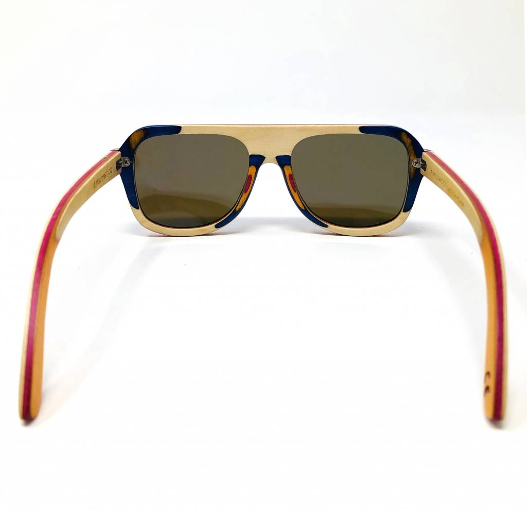 Wildwood Eyewear Wildwood Youth Aviator Maple Wood Polarized Sunglasses