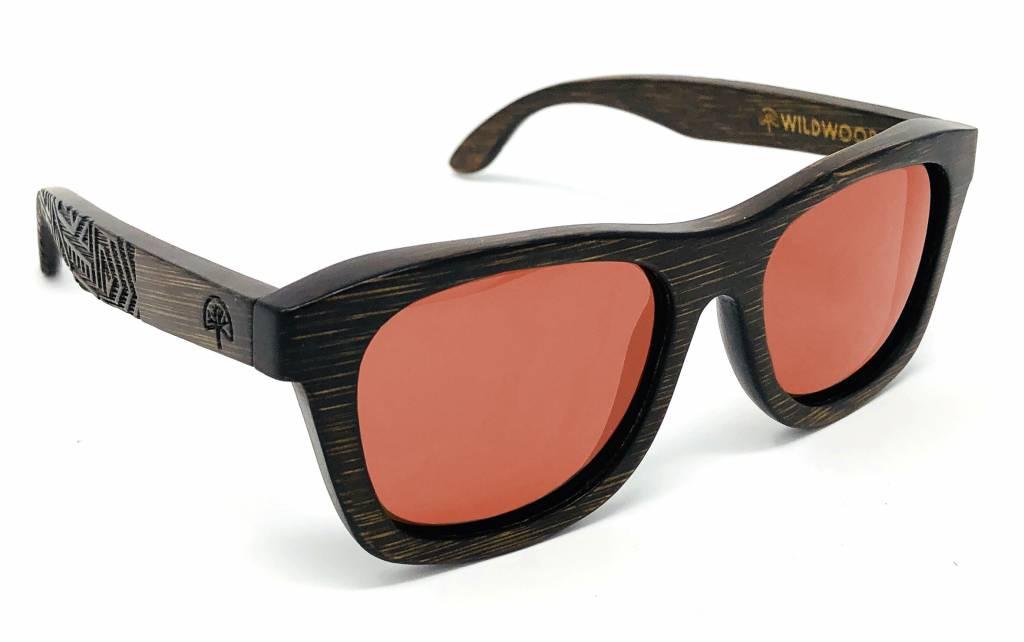 Wildwood Eyewear Wildwood Youth Dark Bamboo Wayfarer Polarized Sunglasses