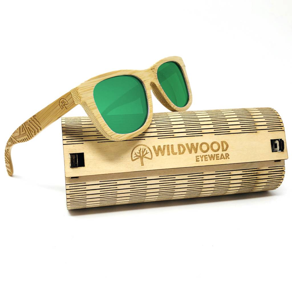 Wildwood Eyewear Wildwood Youth Bamboo Wayfarer Polarized Sunglasses