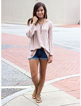 She & Sky Cold Shoulder Top with Hood