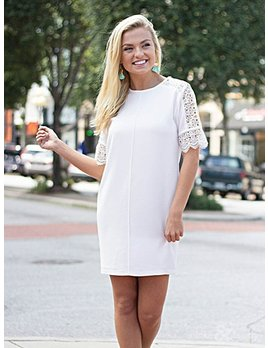 Karlie Karlie Vintage Lace Shoulder Dress