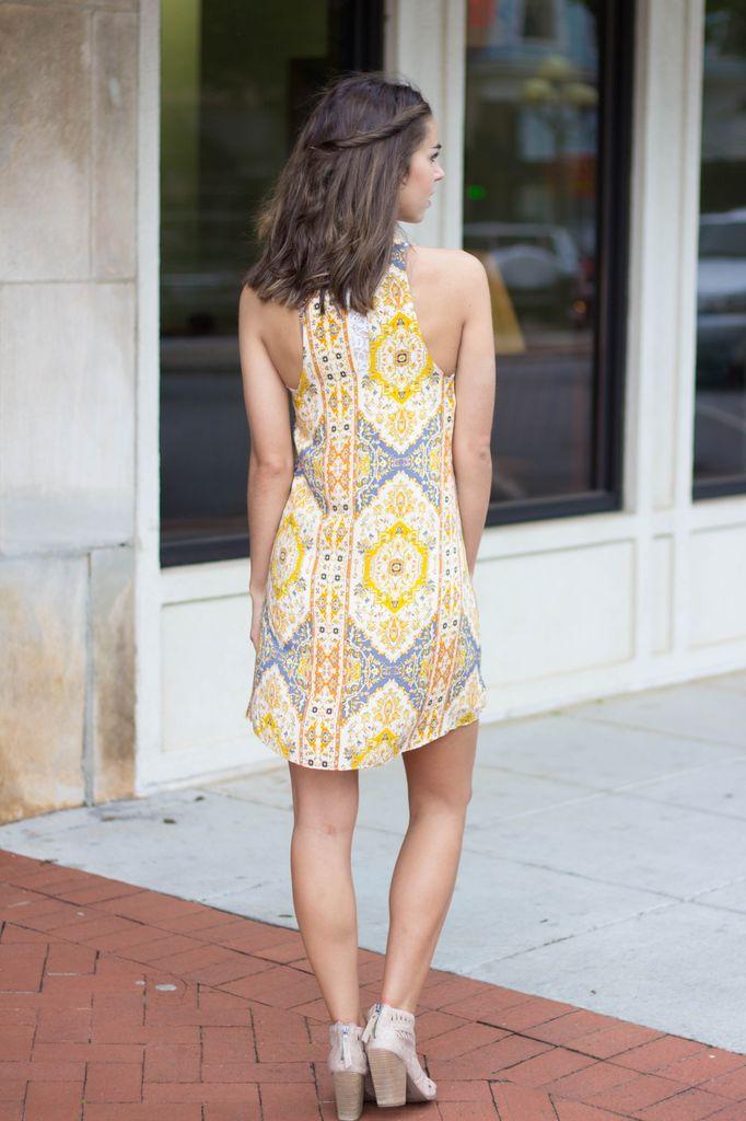 Karlie Karlie Medallion Mock Sleeveless Dress
