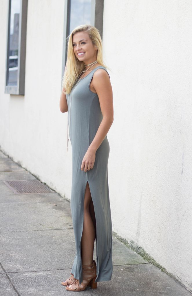 Z Supply Z Supply The High Slit Maxi Dress