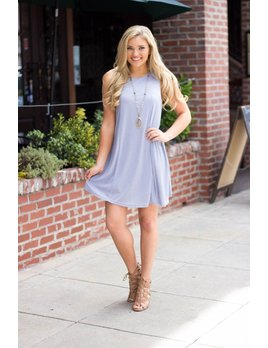 She & Sky Ribbed Shift Dress