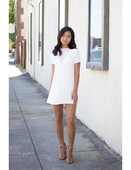 Karlie Karlie Crochet V-Neck Solid Dress