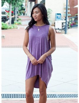 She & Sky MIneral Washed Oversized Muscle Tunic Dress