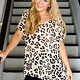 By Together Leopard Short Sleeve V-Neck Tunic