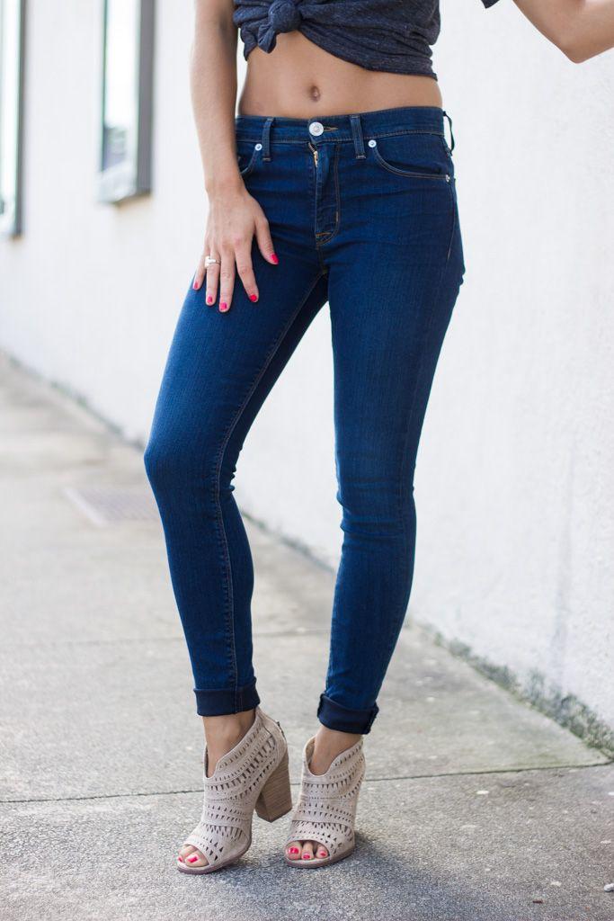 Hudson Barbara High Waist Super Skinny in Olympia
