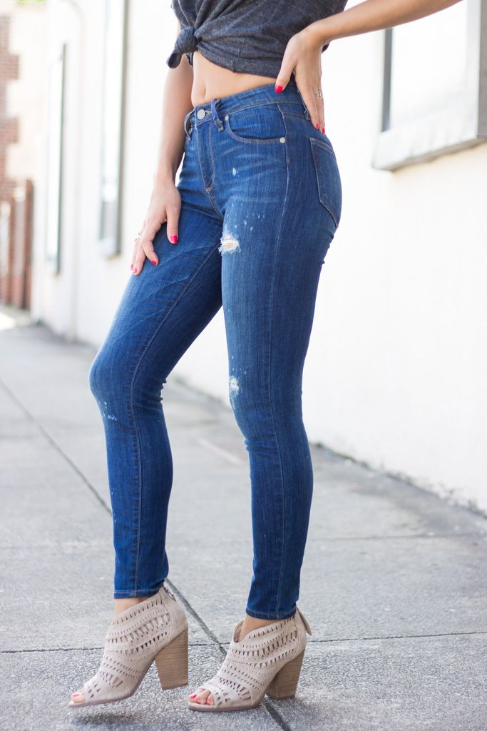 Paige Hoxton Ankle Skinny in Lola Destructed