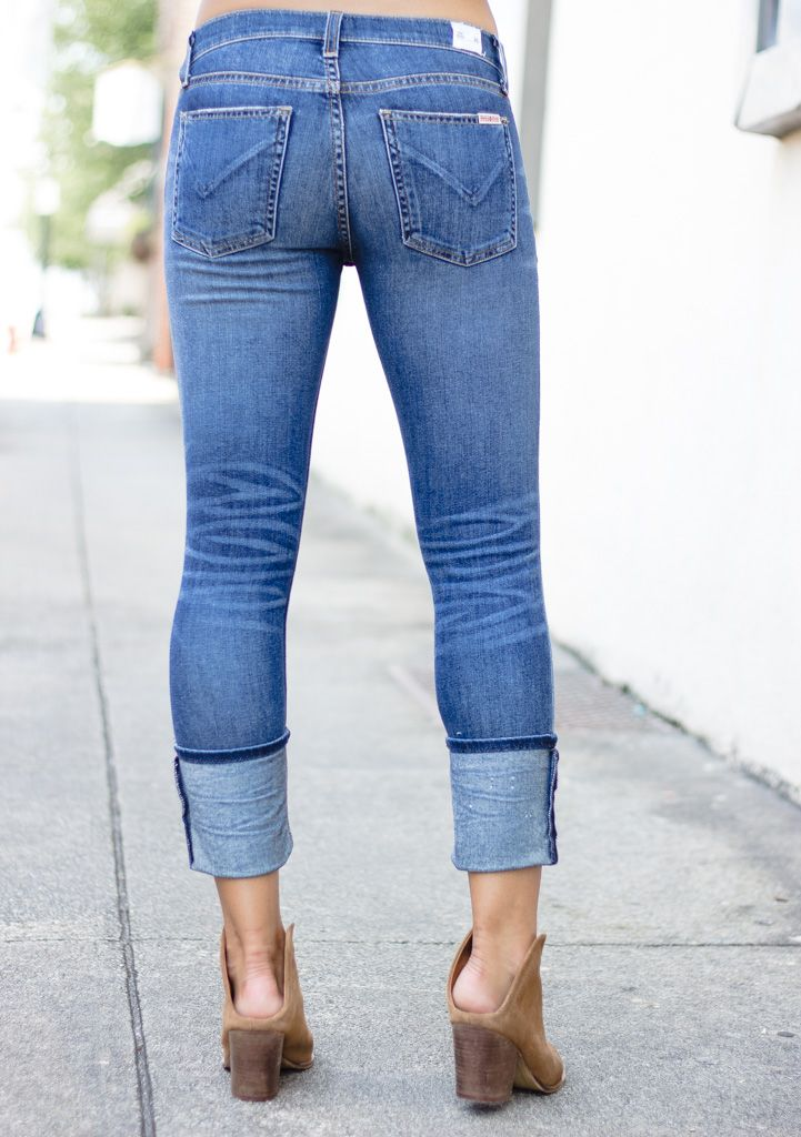 Hudson Hudson Muse Crop Skinny with Cuff in Spy